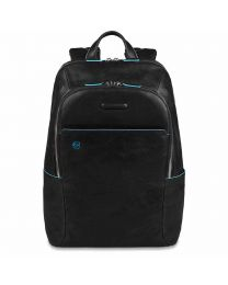 Small size, computer backpack with iPad® Blue Square - Black