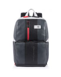Simple Urban leather backpack - grigio/nero